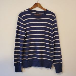 J CREW crew neck striped sweater size medium